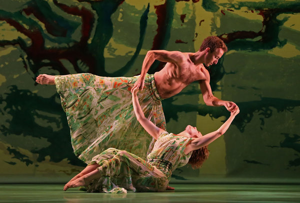 """Chelsea Lynn Acree and Aaron Loux in """"Acis and Galatea."""" Photo by Andrea Mohin for the Times."""