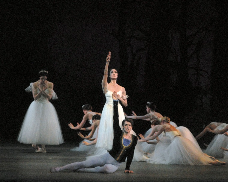 Stella Abrera and Vladimir Shklyarov in Giselle, with American Ballet Theatre. Photo by MIRA.