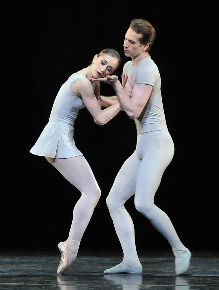 Marianela Nuñez and Nehemiah Kish in Song of the Earth. Photo by Dave Morgan, courtesy the Royal Opera House