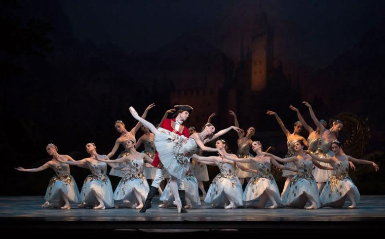 Isabella Boylston and Joseph Gorak in Alexei Ratmansky's The Sleeping Beauty. Photo by Rosalie O'Connor