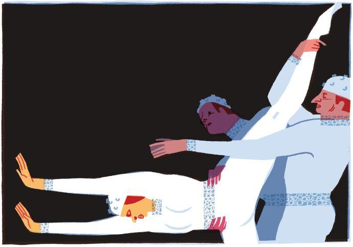 "American Ballet Theatre performs Frederick Ashton's ""Monotones I"" and ""Monotones II.""Illustration by Eleanor Davis"