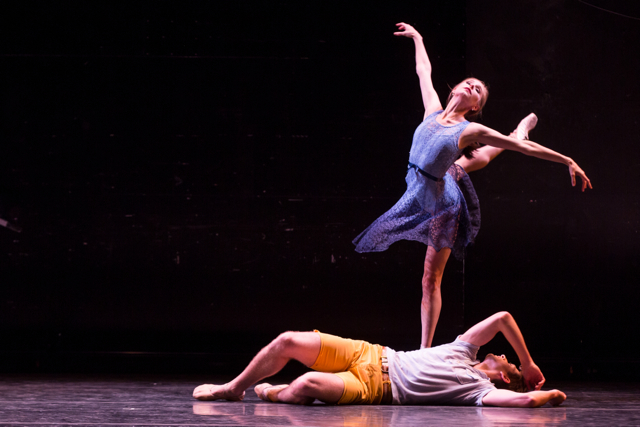 Ashley Laracey and Harrison Coll in Dear and Blackbirds. Photo by Matthew Murphy.