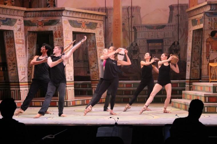 Sarasota Opera rehearsing Aida. © Sam Lowry and Sarasota Opera.