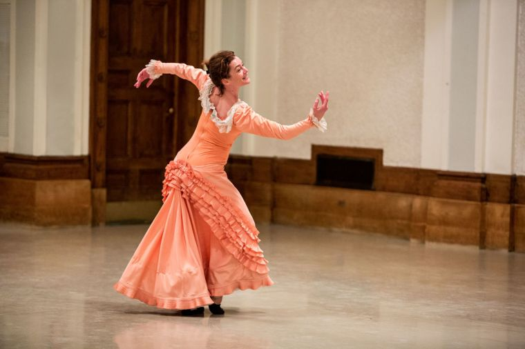 Aurélie Dupont, in the costume for Marhta Graham's Appalachian Spring, by Brigid Pierce.